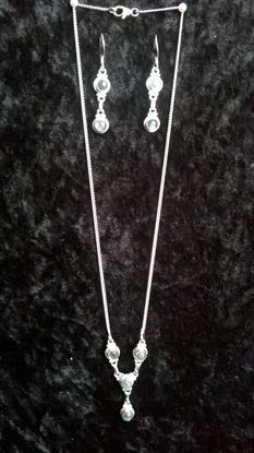 Picture of Stirling Silver Necklace and Earrings