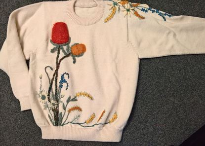 Picture of Designer Embroidered Jumper -ONE OFF