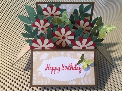 Picture of Handmade Birthday card in a box style